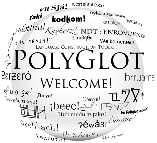 POLYGLOTLOGO- Why do you have alt text on? Can you not see images? Were you born with the ability to only see text? How tragic. I can't really describe what the logo looks like with just words. Not English words, anyhow. If only there were a tool to help me make some new ones...